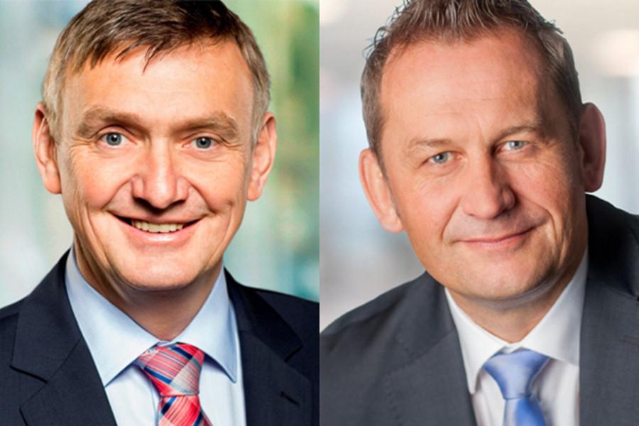 CDU Landtagsabgeordnete Dietmar Panske und Wilhelm Korth